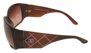 Chanel MADE IN ITALY! CHANEL CC Logo Swarovski Crystal Lattice Sunglasses