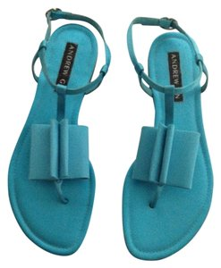 Andrew Gn Turquoise Sandals