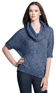 Jones New York Metallic Batwing Cowl Neck Sweater