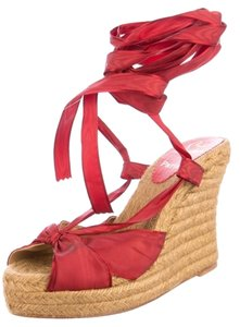 Christian Louboutin Wedge Summer Red Wedges