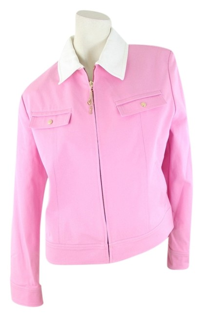 Preload https://item4.tradesy.com/images/st-john-pink-and-white-jacket-1455348-0-0.jpg?width=400&height=650