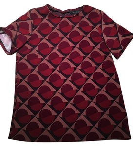 Marc by Marc Jacobs Geometric Top Cabernet Red