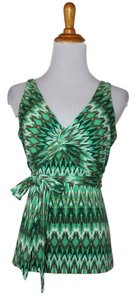 BCBGMAXAZRIA Bcbg Summer Ikat Top Green