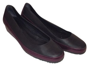 Hollywould Leather Low Leather Dark navy with purple metallic Wedges