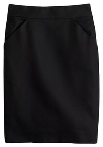 J.Crew Pencil Double Serge Summer Skirt Black