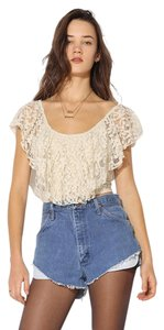 Urban Outfitters Uo Kimchi Blue Cropped Top Ivory