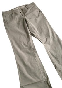 7 For All Mankind Boot Cut Pants Cream/Light Blue Stripe