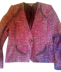 Ellen Tracy Tweed Pink Tweed Blazer