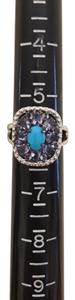 Graziela Gems Graziela Gems Sleeping Beauty Turquoise & Tanzanite Ring Size 6