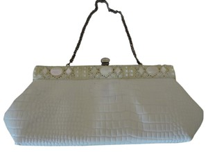 Faye Mell Design White Clutch