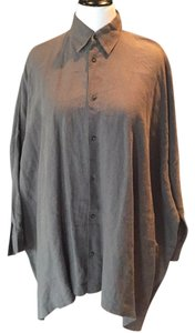 Eskandar Button Down Shirt Grey