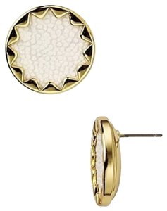 House of Harlow 1960 House of Harlow 1960 Sunburst Stud Earrings with White Stingray Leather