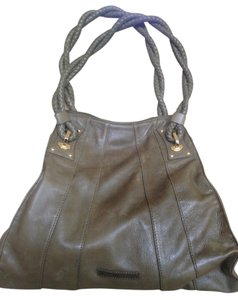 BCBGMAXAZRIA Soft Leather Gold Hardware Shoulder Bag