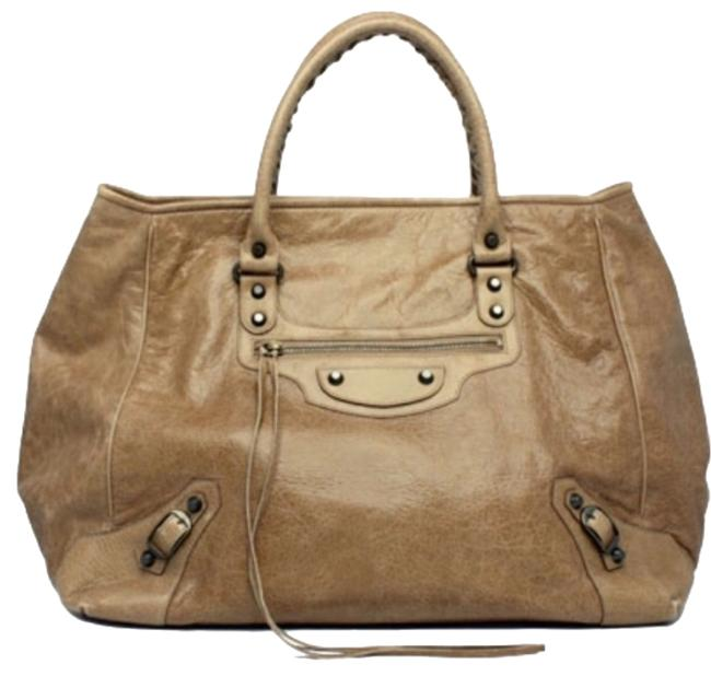 Item - Sunday Mm Taupe Lambskin Leather Weekend/Travel Bag