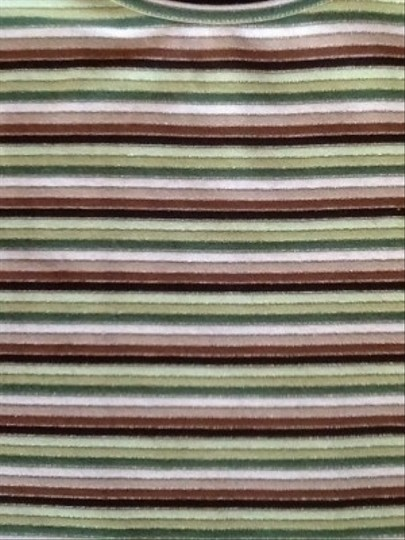 Yansi Fugel Striped Top In Browns, Greens,white - 79% Off Retail 60%OFF