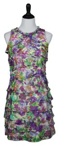 Dress Barn short dress Multicolor, Purple, Green, Orange on Tradesy
