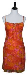 California Concepts short dress Orange, Pink, Green, Multicolor on Tradesy
