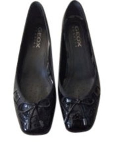 Geox Black Patent Leather Flats