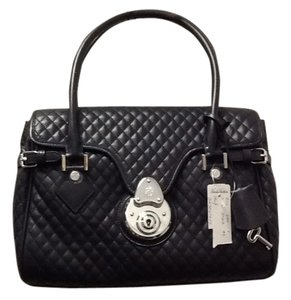 Brooks Brothers Leather Chic Classic Satchel in Black
