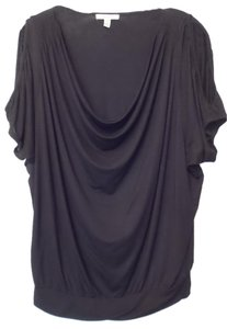 Bordeaux Anthropologie Knit Long Length Top Black