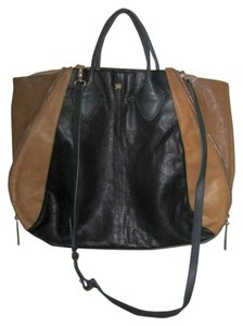 Pour La Victoire Yves Tote in Black Olive Brown Green