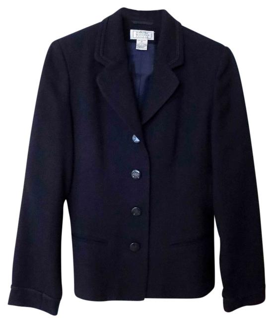 Jennifer Moore Wool Fully Lined Besom Pockets Double Rope Trim Decorative Buttons Dark Navy Blazer