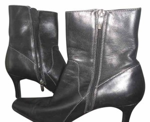 Anne Klein Short Ankle Leather Black Boots