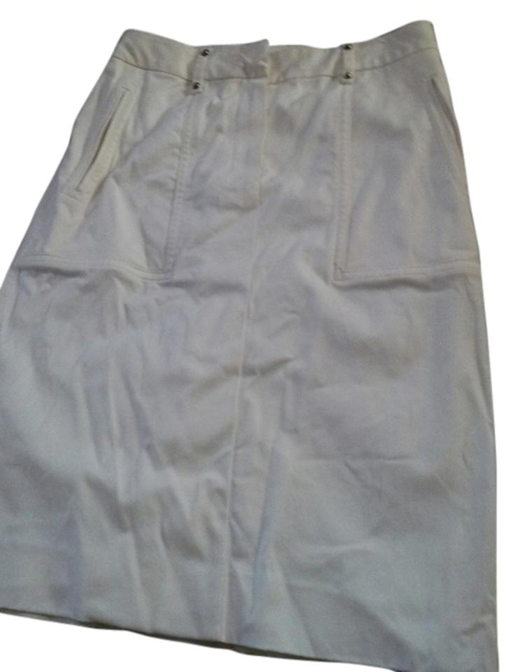 b6ab5aed71 Saint Laurent White Yves Thick with Cargo Pockets Skirt Size 6 (S ...
