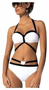 Other SUMMER SALE New 2pc Black & White Caged Bikini Bathing Suit