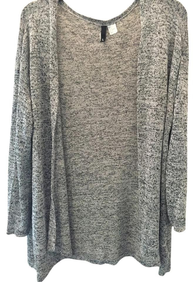 43b87584f6ee Divided by H M Black White Cardigan Size 12 (L) - Tradesy