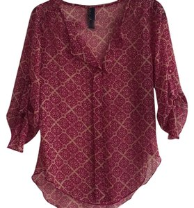 Blue Rain Top Maroon, beige
