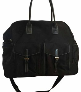 Maxx New York Black Large Dome Weekender Travel Bag
