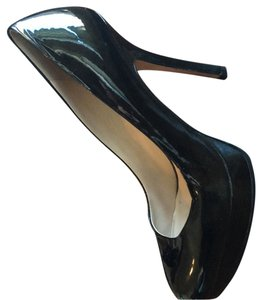Joan & David Black Patent Leather Platforms