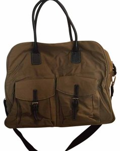 Maxx New York Taupe Large Dome Weekender Travel Bag