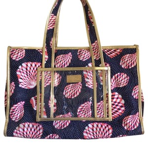 Lilly Pulitzer Pink, Blue, Gold Beach Bag