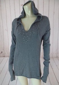 Calvin Klein Jeans Hoodie Gray Thin Knit Cotton Boho Sweater