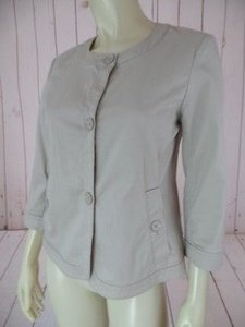 Talbots Blazer Cotton Spandex Stretch Button Front Unlined Retro Khaki Jacket