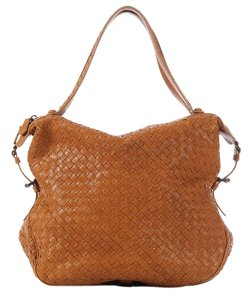 Bottega Veneta Bv.k0303.05 Brown Woven Chevre Leather Shoulder Bag