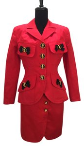 Gemma ,Gemma,Kahng,,Red,Jacket,&,Skirt,Set,