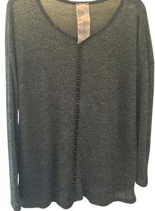 Moon Collection Faux Leather Sweater