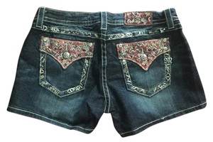 Miss Me Denim Shorts-Dark Rinse
