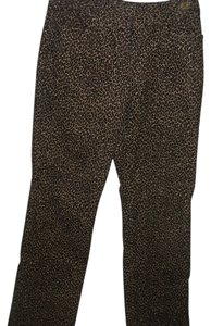 Talbots Leopard Stretch Corduroy Boot Cut Jeans