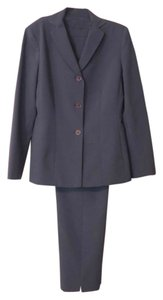 Kasper KASPER FOR A.S.L. * WOMEN'S PANTSUIT * DUSTY GREY BLUE * FITTED * LONG SINGLE BREASTED JACKET * TAPEPER PANTS * FULLY LINED * IMPECCABLE TAILORING * SIZE 6