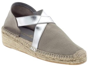 Bettye Muller Grey & silver Wedges