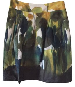 Max Mara Skirt Green, gold, and cream