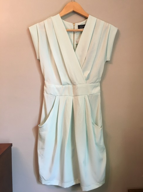 ASOS short dress sea foam green, pale mint Closet Blu Wrap Visible Zipper on Tradesy Image 1