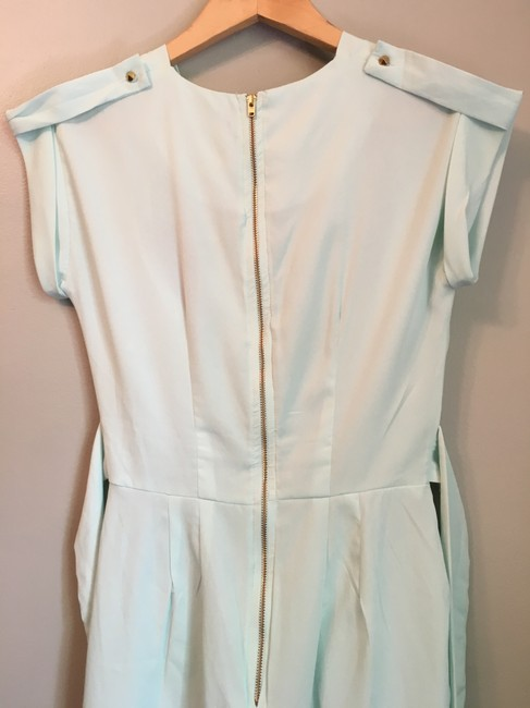 ASOS short dress sea foam green, pale mint Closet Blu Wrap Visible Zipper on Tradesy Image 2
