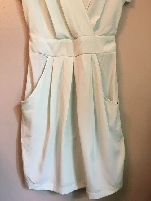 ASOS short dress sea foam green, pale mint Closet Blu Wrap Visible Zipper on Tradesy Image 3