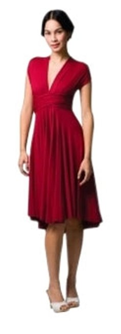 Item - Teal Signature Mid-length Cocktail Dress Size OS (one size)
