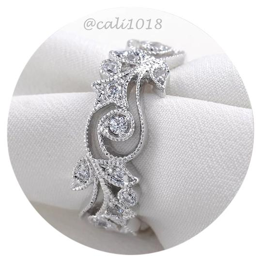 Preload https://img-static.tradesy.com/item/14562634/white-aaa-cz-and-silver-new-stones-10k-gold-filled-eternity-wedding-band-7-ring-0-1-540-540.jpg